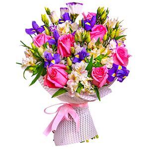 Прекрасный букет +30% цветов с доставкой в Тюмени