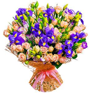 Дизайнерский букет +30% цветов с доставкой в Тюмени