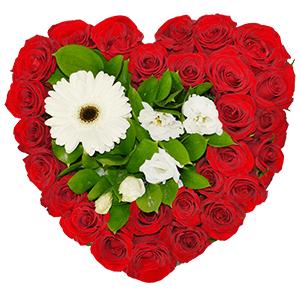 Цветочное сердце +30% цветов с доставкой в Тюмени