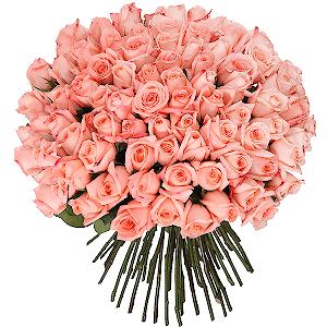 Букет из 101 розовой розы с доставкой в Тюмени