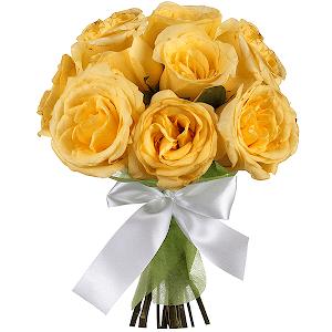 Букет из 9 желтых роз
