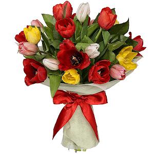 Тюльпаны (21 шт.) с доставкой в Тюмени