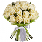 Букет из  белых роз